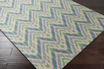 Surya Country Living Front Porch FRP-1003 Apple Green/Teal/Beige Closeout Area Rug - Spring 2015