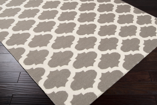 Surya Frontier Ft 122 Taupe White Area Rug Rugs A Bound