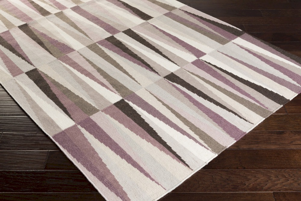 Surya Frontier Ft 581 Eggplant Grey Mauve Closeout Area