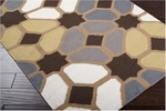 Surya Frontier FT-70 Dark Chocolate/Golden Brown/Pewter Closeout Area Rug - Spring 2014