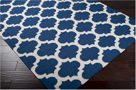 Royal Blue And White Area Rugs