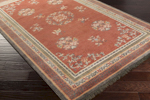 Surya Geisha GES-1009 Burgundy/Grey/Light Grey/Burnt Orange/Gold Area Rug