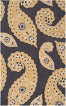 Surya Hudson Park HDP-2022 Charcoal Grey/Gold/White Closeout Area Rug - Fall 2014