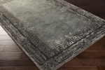 Surya Henna HEN-1005 Black/Light Grey/Moss Area Rug