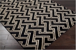 Surya Mugal IN-8046 Jet Black/Dark Khaki/Coffee Bean Closeout Area Rug - Fall 2012