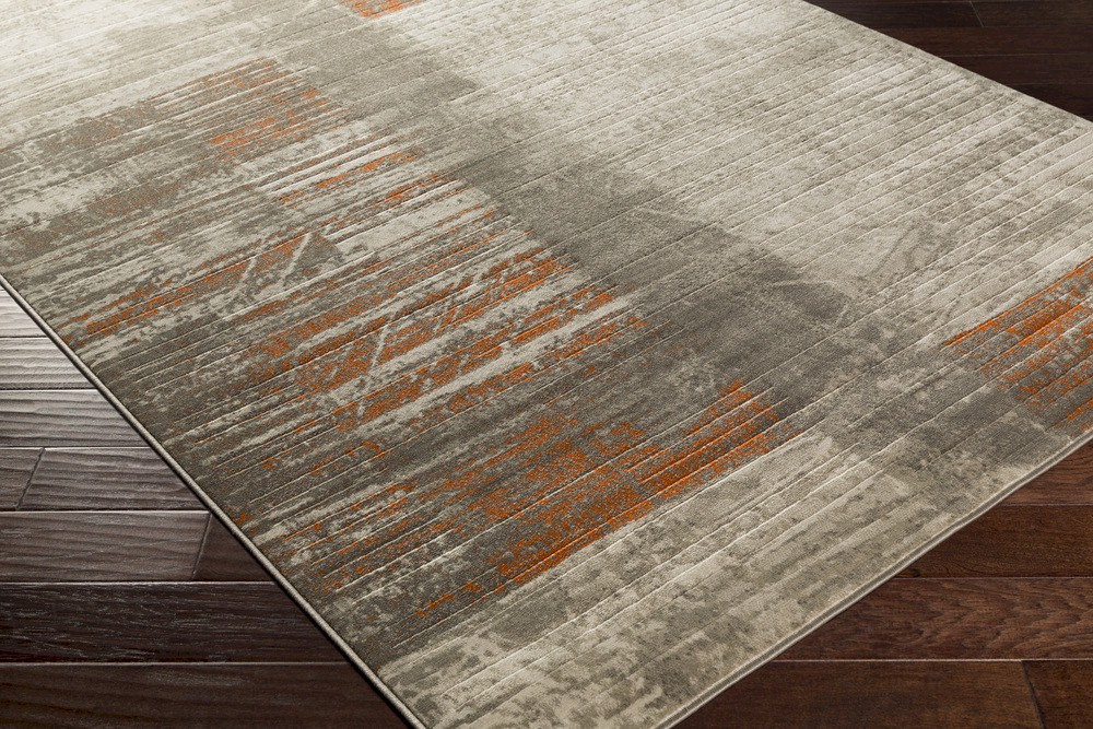 Surya Jax Jax 5012 Light Grey Olive Burnt Orange Area Rug
