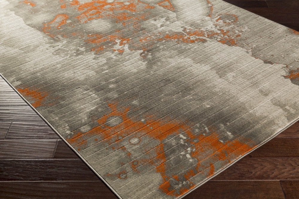 Surya Jax Jax 5022 Light Grey Olive Burnt Orange Area Rug