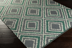 Surya Juniper JNP-5037 Charcoal/Ivory/Emerald/Kelly Green Closeout Area Rug - Spring 2015