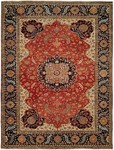 HRI Supreme JR-7 Red/Blue Closeout Area Rug