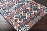Surya Jewel Tone II JTII-2054 Ivory/Navy/Coral Closeout Area Rug - Spring 2015