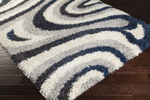 Surya Los Angeles LAX-5006 Ivory/Ash Grey/Navy Closeout Area Rug - Fall 2014