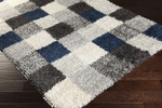 Surya Los Angeles LAX-5012 Cobalt/Grey/Ivory Closeout Area Rug - Fall 2014