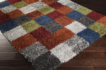 Surya Los Angeles LAX-5014 Poppy/Grey/Apple Green Closeout Area Rug - Fall 2014