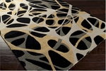 Surya Lies LIE-6004 Jet Black/Gold/Cumin Closeout Area Rug - Spring 2014