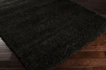 Surya Luxury Shag LXY-1720 Jet Black/Fatigue Green Closeout Area Rug - Fall 2013