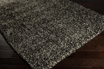 Surya Luxury Shag LXY-1738 Winter White/Putty/Jet Black Closeout Area Rug - Fall 2013