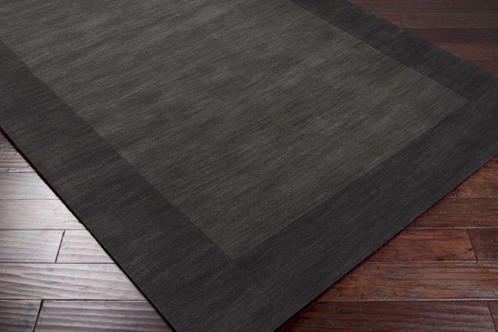 Surya Mystique M 347 Charcoal Grey Jet Black Area Rug