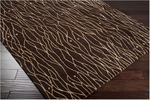 Surya Bob Mackie Moderne MDR-1020 Chocolate/Champagne Closeout Area Rug - Spring 2011