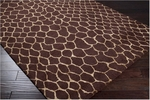 Surya Bob Mackie Moderne MDR-1032 Chocolate/Gold Closeout Area Rug - Spring 2012