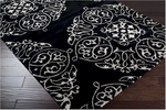 Surya Bob Mackie Moderne MDR-1036 Jet Black/Ivory Closeout Area Rug - Fall 2012