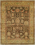 HRI Mahal MJ-48 Brown/Gold Area Rug