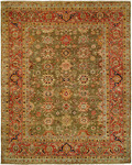 HRI Mahal MJ-7 Green/Red Area Rug