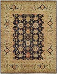 HRI Mahal MJ-7 Navy Blue/Ivory Area Rug
