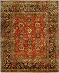 HRI Mahal MJ-7 Red/Charcoal Area Rug