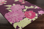 Surya Florence Broadhurst Mount Perry MTP-1002 Plum/Magenta/Apple Green Closeout Area Rug - Fall 2015