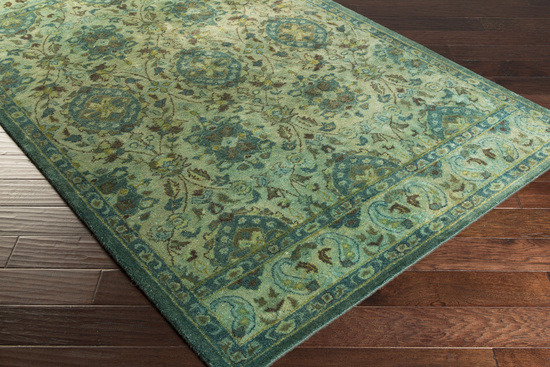 Surya Mykonos Myk 5000 Olive Moss Teal Area Rug Rugs A Bound