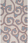 Surya Mezzo MZO-6003 Ivory/Slate Blue/Red Clay Closeout Area Rug - Spring 2014