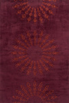 Momeni New Wave NW-107 Burgundy Closeout Area Rug