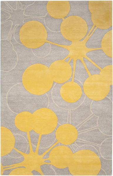 Surya Organic Modern Omr 1014 Grey Yellow Closeout Area