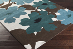 Surya Organic Modern OMR-1030 Light Grey/Teal/Chocolate Closeout Area Rug - Spring 2015