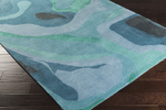 Surya Pigments PGM-3000 Emerald/Kelly/Slate/Teal Closeout Area Rug - Fall 2015