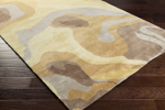 Surya Pigments PGM-3001 Cream/Chocolate/Gold Closeout Area Rug - Fall 2015