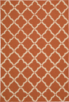 Nourison Portico POR01 Orange Closeout Area Rug