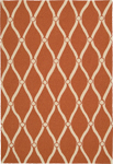 Nourison Portico POR02 Orange Closeout Area Rug
