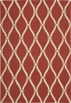 Nourison Portico POR02 Red Closeout Area Rug