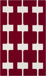 Surya Paule Marrot Printemps PRN-1003 Maroon/Icicle Closeout Area Rug - Fall 2014