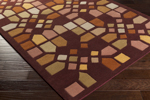 Surya Peerpressure PSR-7015 Burgundy/Peach/Gold/Tan/Rust/Sea Foam/Olive Closeout Area Rug