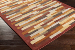 Surya Peerpressure PSR-7018 Burgundy/Rust/Gold/Mocha/Light Grey/Charcoal Closeout Area Rug