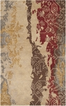 Surya Rant RANT-8710 Ivory/Brick Red/Brown Closeout Area Rug - Spring 2014