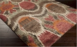 Surya Scarborough SCR-5130 Chocolate/Camel/Venetian Red Area Rug