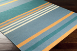 Surya Angelo Surmelis Sheffield Market SFM-8002 Pacific Blue/Alpine Green/Pumpkin Closeout Area Rug - Fall 2014