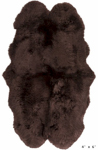 Surya Sheepskin SHS-9603 Chocolate Area Rug