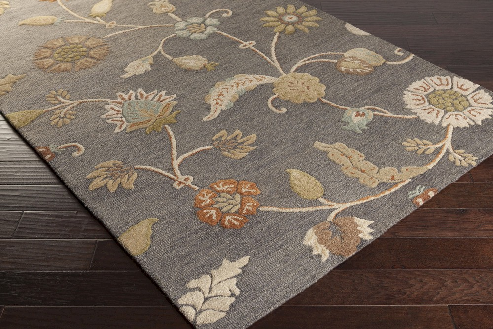 Surya Sprout Srt 2010 Olive Ivory Tan Rust Area Rug