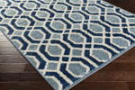 Surya Swift SWT-4004 Slate/Cobalt/Ivory Closeout Area Rug