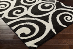 Surya Swift SWT-4007 Black/Ivory Closeout Area Rug