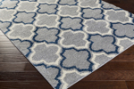 Surya Swift SWT-4019 Light Grey/Cobalt/Ivory Closeout Area Rug
